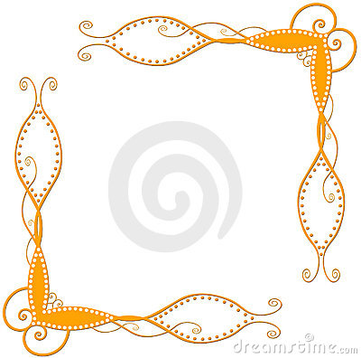 Coins spiralés oranges
