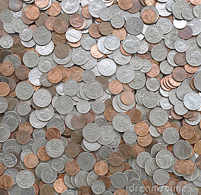 Free Coins Usa Royalty Free Stock Photo - 15640235