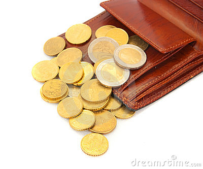 Coins with   wallet