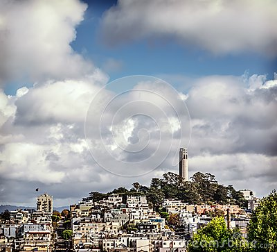 Free Coit Tower In Telegraph Hill Royalty Free Stock Photography - 110335707