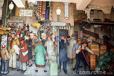 Coit tower murals editorial stock photo image 18264423 for Coit tower mural artists