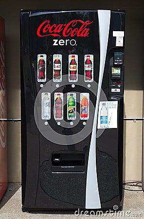 Coke Machine Editorial Stock Image