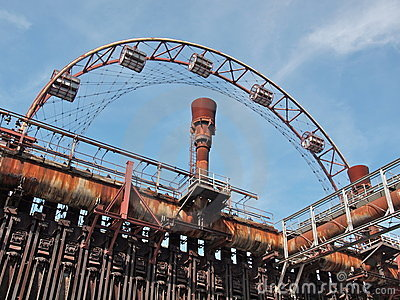 Cokes factory with wheel