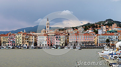 Col di Nava - Ligurian coast Editorial Stock Image