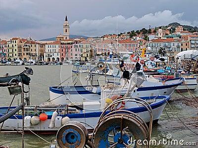Col di Nava - Ligurian coast Editorial Photography