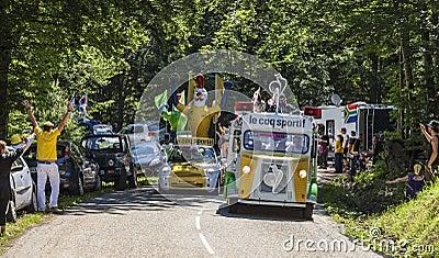 Le Coq Sportif Caravan Editorial Stock Photo