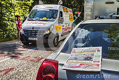 Le Tour de France Official Daily Newspaper Editorial Photography