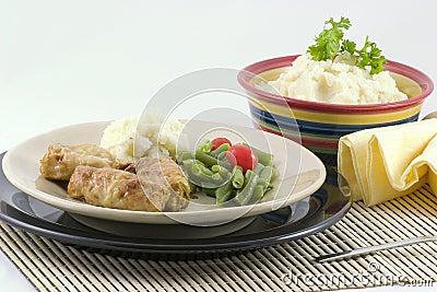 Col rellena y patatas
