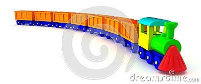 Cola anaranjada del tren
