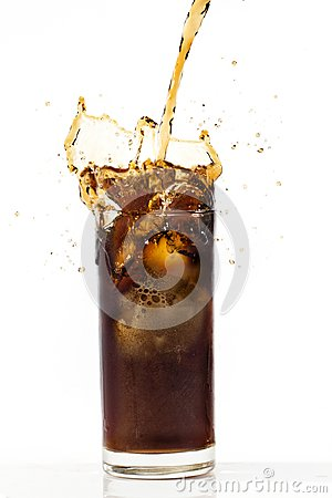 Free Cola In Glass Royalty Free Stock Photos - 102963718