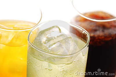 Cola, orane and lime drink