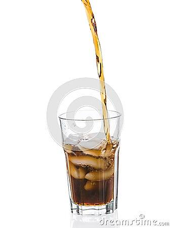 Cola splashing from glass