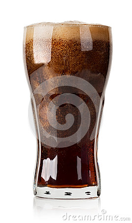 Free Cola With Ice Cubes Isolated Royalty Free Stock Photo - 39504995