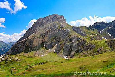 Colac mountain in Dolomites