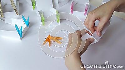 Colagem da caixa de papel filme