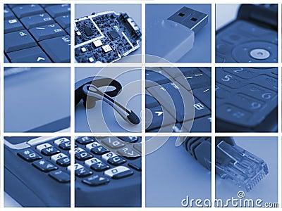 Colagem da tecnologia