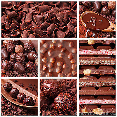Colagem do chocolate