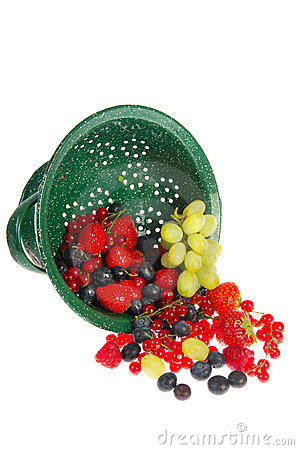 Colander with fresh fruit