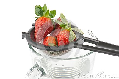 Colander with strawberry