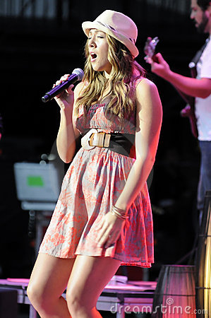 Colbie Caillat performing live. Editorial Stock Image