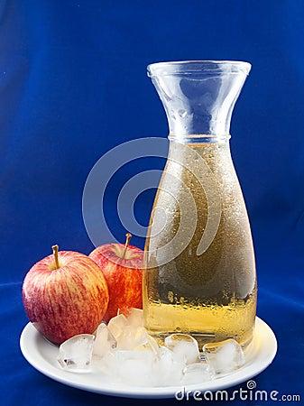 Cold apple juice