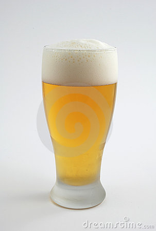 Cold beer in frosted glass