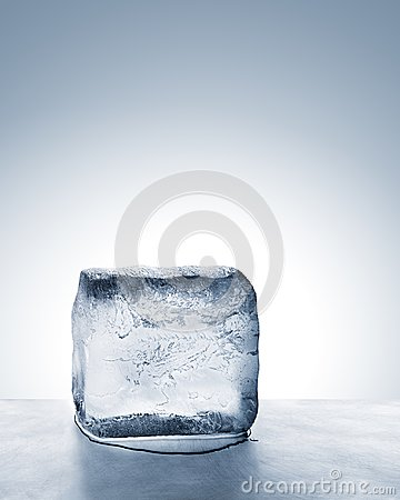 Free Cold Blue Ice Block Melting Into Water On Metal Surface Royalty Free Stock Image - 102772956