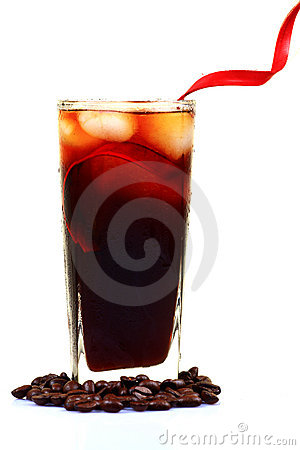 Cold coffee glass