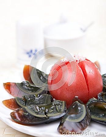 Cold dish - century eggs