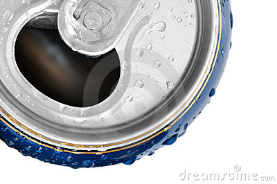 Cold drink can with fresh dew