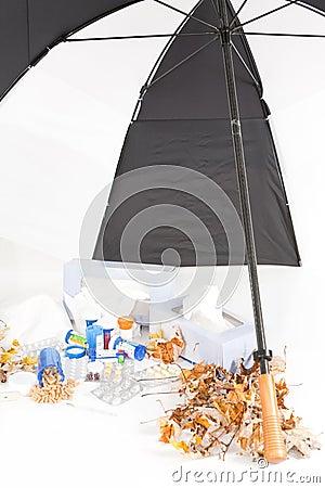 Cold and Flu Season with Umbrella_Portrait