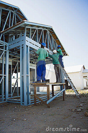 Cold Formed Steel Framing - Construction Site Editorial Image