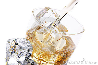 Cold glass of alcohol