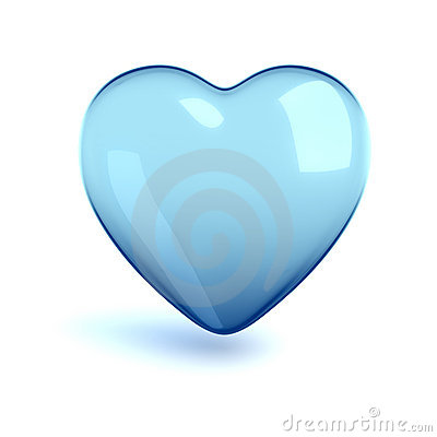 Free Cold Glass Heart Stock Image - 6173251
