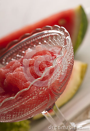 Cold, mixed water melon - granita