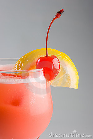 Cold pink cocktail