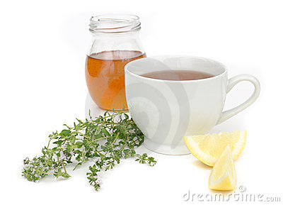 Cold Remedy with Tea Honey and Lemon