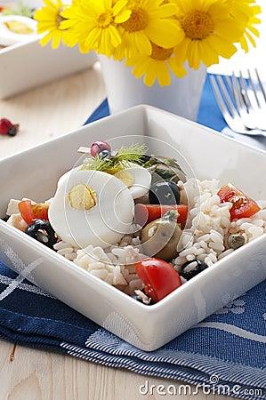 Cold rise salad