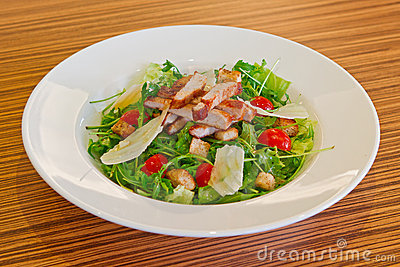 Cold Salad With Pork Meat Royalty Free Stock Photography - Image: 23073777