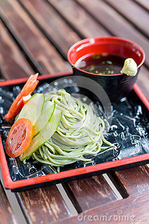 Cold soba noodle japanese traditional food