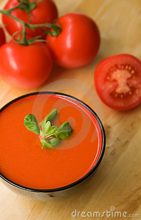 Cold Spanish tomato-based soup gazpacho