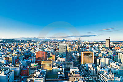 A cold sunny day in Sendai Japan