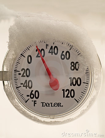 Cold temperature gauge Editorial Stock Photo