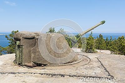 Cold War coastal artillery Sweden