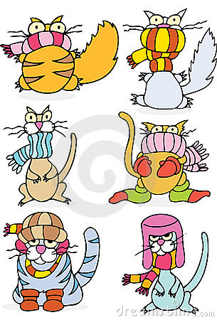 Free Cold Winter Cats Royalty Free Stock Photo - 9314805
