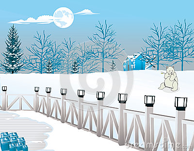 Cold Winter Night, illustration