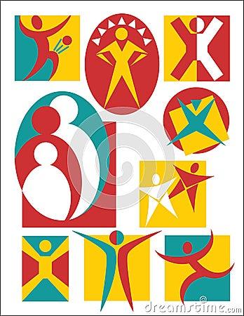 Coleção #3 dos logotipos dos povos