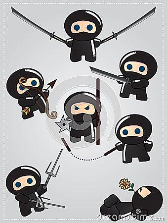 Coleção da arma do ninja