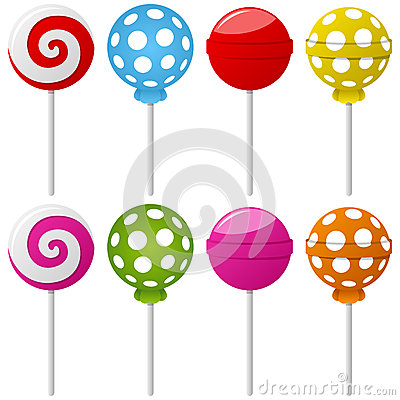 Coleção doce do Lollipop