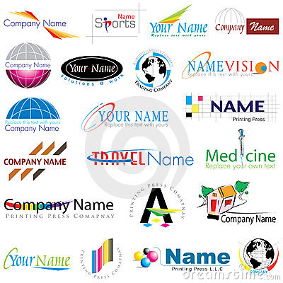 Coleção moderna dos logotipos